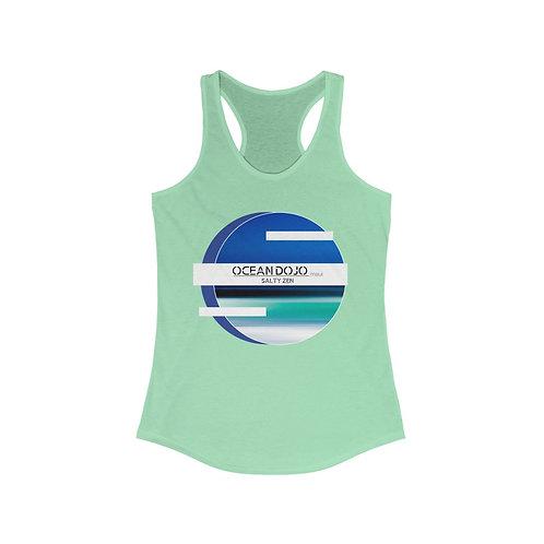 """Ocean Dojo Clothing """"Blue Logo"""" - Women's Ideal Racerback Tank"""