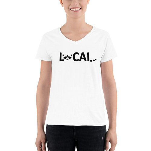 Local Women's Casual V-Neck Shirt