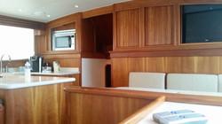 kitchen in fishbone boat