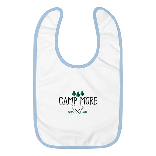 Camp More Embroidered Baby Bib