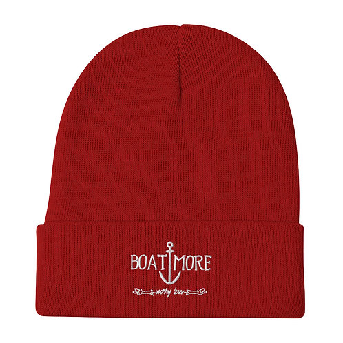 Boat More Embroidered Beanie