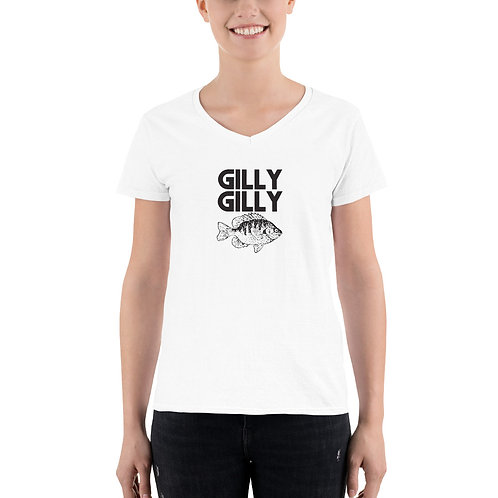 Gilly Gilly Women's Casual V-Neck Shirt