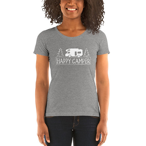 Happy Camper Bella Canvas Tri-Blend Ladies' Short Sleeve T-shirt