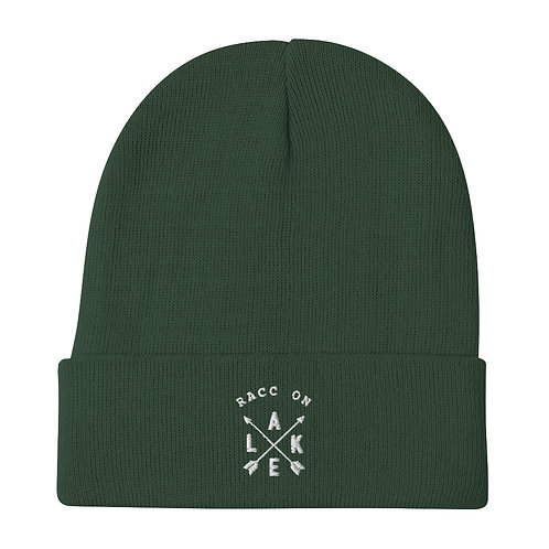 Raccoon Lake Compass Embroidered Beanie