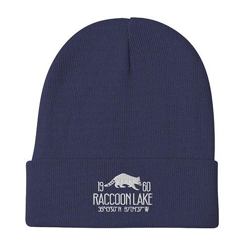Raccoon Lake Embroidered Beanie