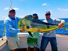 mahi caught on Fishbone