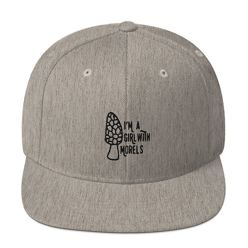 I'm a Girl With Morels Snapback Hat