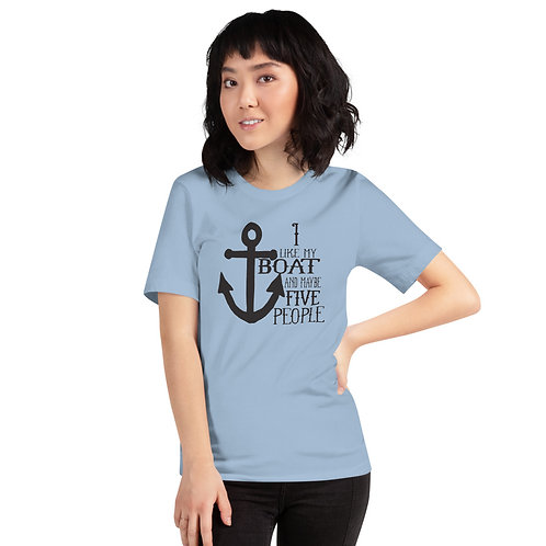 I Like My Boat Bella Canvas 3001 Short-Sleeve Unisex T-Shirt