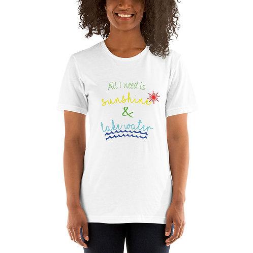Sunshine and Water Bella Canvas 3001 Short-Sleeve Unisex T-Shirt