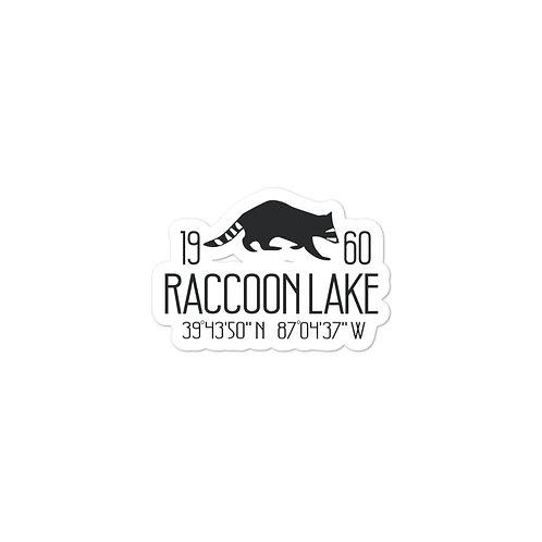 Raccoon Lake Bubble-free stickers