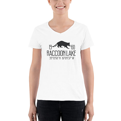 Raccoon Lake Women's Casual V-Neck Shirt