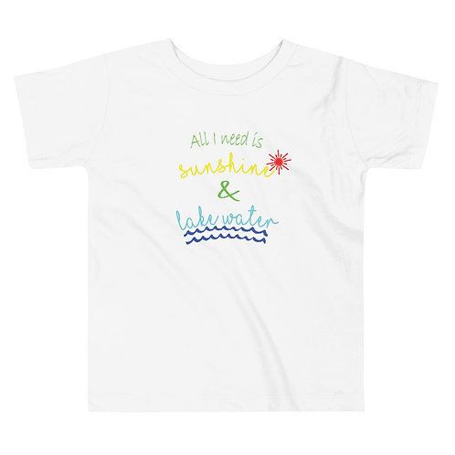 Sunshine and Water Toddler Short Sleeve Tee