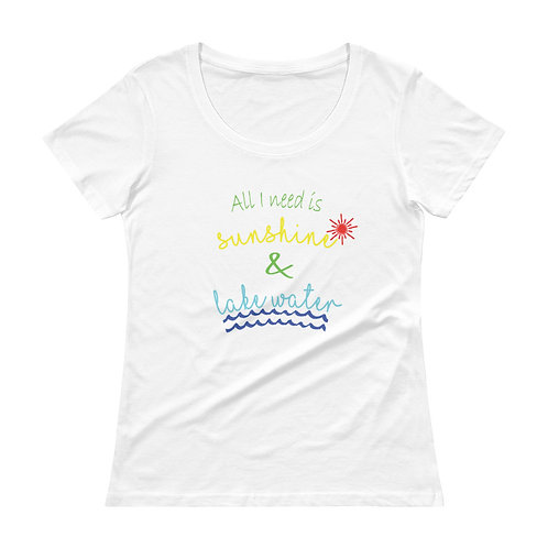 Sunshine and Water Ladies' Scoopneck T-Shirt