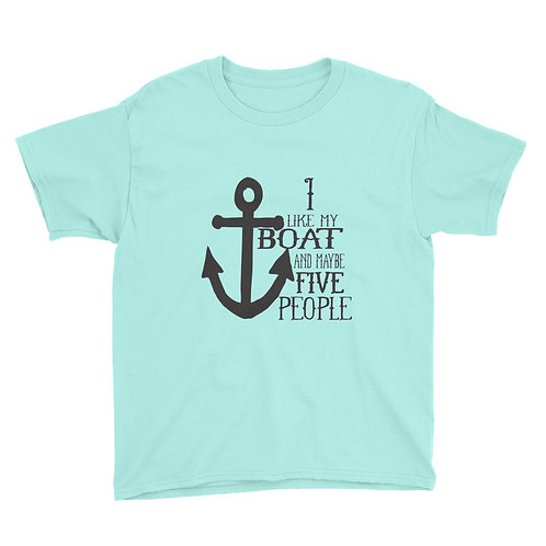 I Like My Boat Youth Short Sleeve T-Shirt