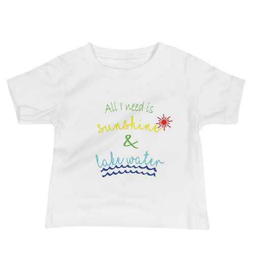 Sunshine and Water Baby Jersey Short Sleeve Tee