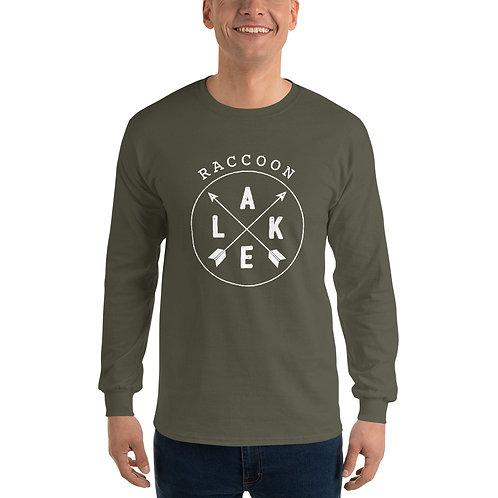 Raccoon Lake Compass Gildan Men's Long Sleeve Shirt