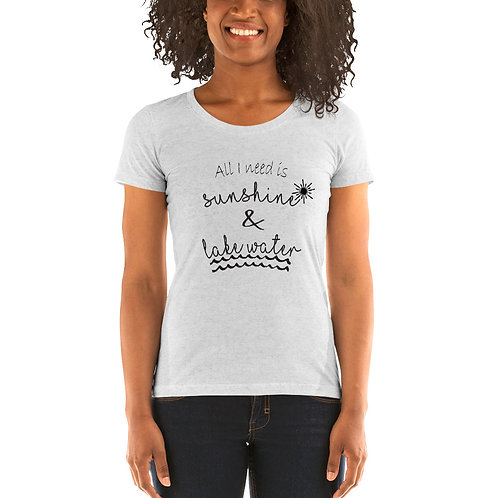 Sunshine and Water Bella Canvas Tri-Blend Ladies' Short Sleeve T-shirt