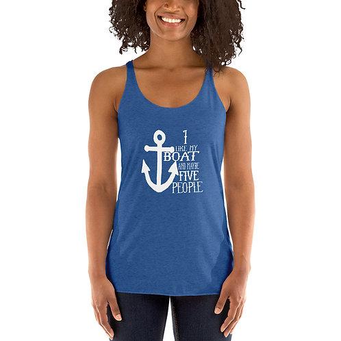 I Like My Boat Women's Racerback Tank 6733