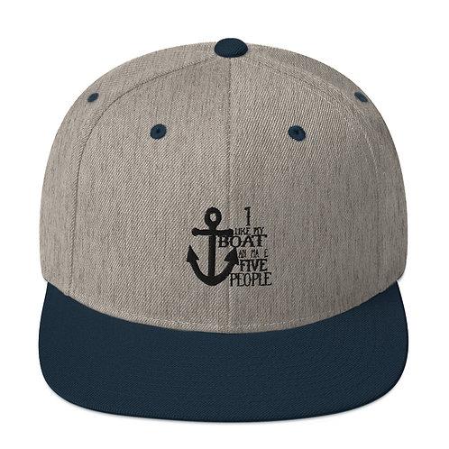 I Like My Boat Snapback Hat