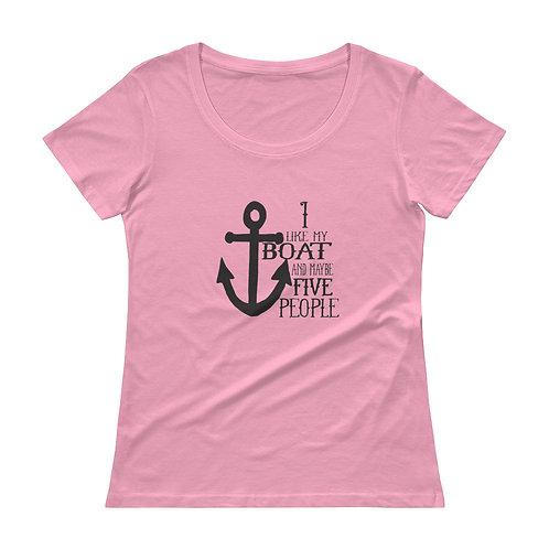 I Like My Boat Ladies' Scoopneck T-Shirt