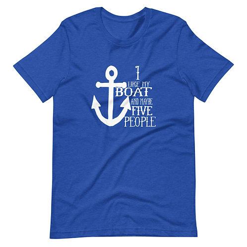 I Like my Boat Bella Canvas 3001 Short-Sleeve Unisex T-Shirt