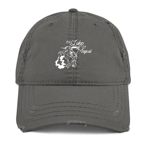 Magical Lake Distressed Dad Hat