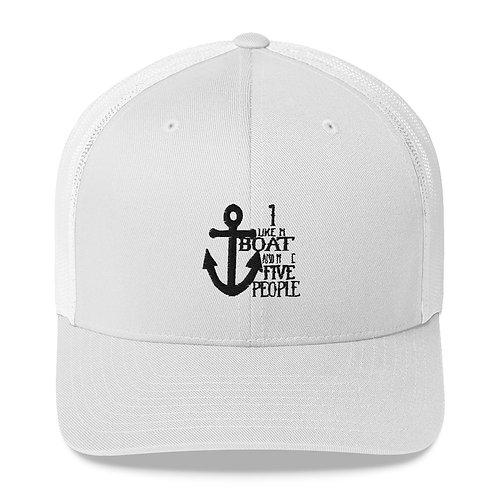 I Like My Boat Trucker Cap
