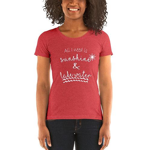 Sunshine and Water Bella Canvas Tri-Blend Ladies' Short Sleeve T-shirt