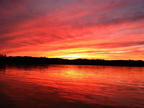 Sunset on Raccoon Lake