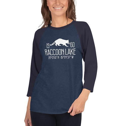 Raccoon Lake 3/4 sleeve raglan shirt