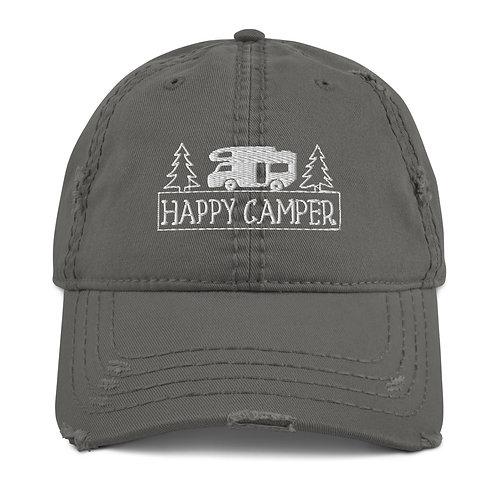 Happy Camper Distressed Dad Hat