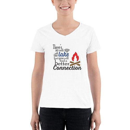 No Wifi Women's Casual V-Neck Shirt