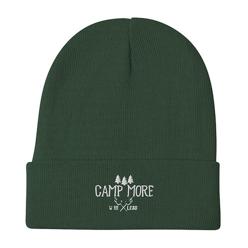 Camp More Embroidered Beanie