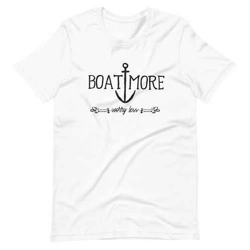 Boat More Worry Less Bella Canvas Short-Sleeve Unisex T-Shirt