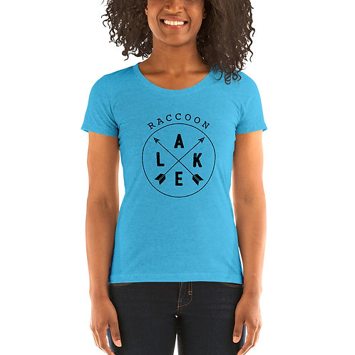 Raccoon Lake Compass Bella Canvas Tri-Blend Ladies' Short Sleeve T-shirt