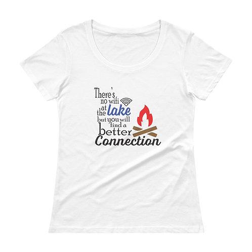 No Wifi Ladies' Scoopneck T-Shirt