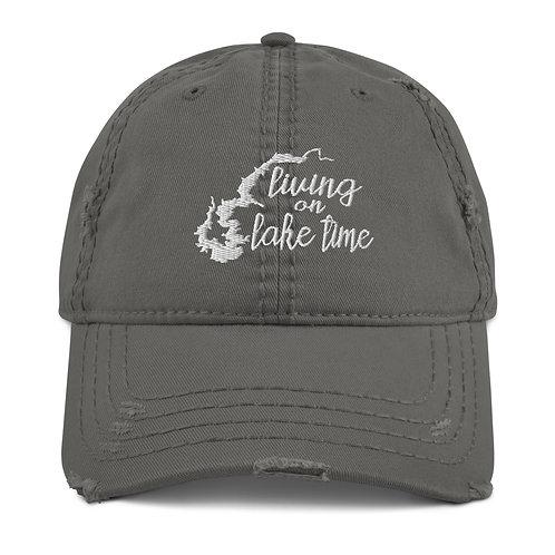 Lake Time Distressed Dad Hat