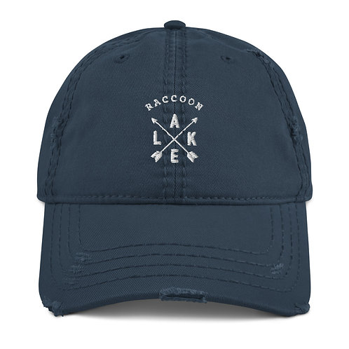 Raccoon Lake Compass Distressed Dad Hat