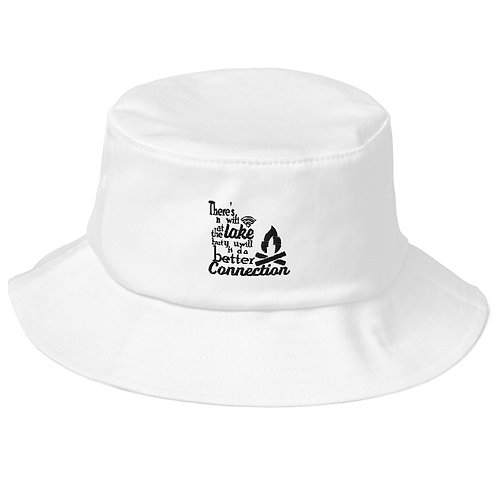 No Wifi Old School Bucket Hat