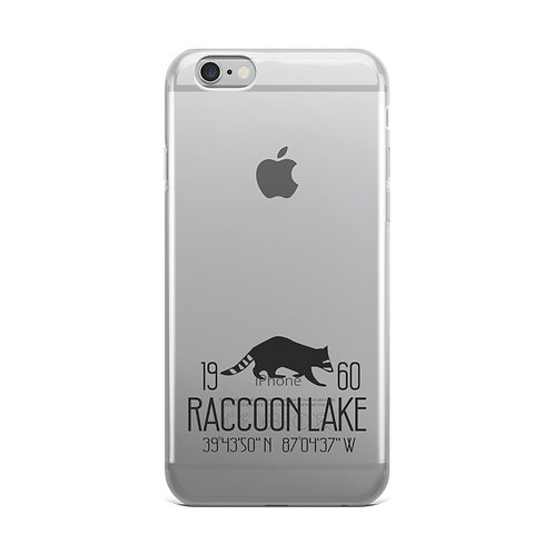 Raccoon Lake iPhone Case