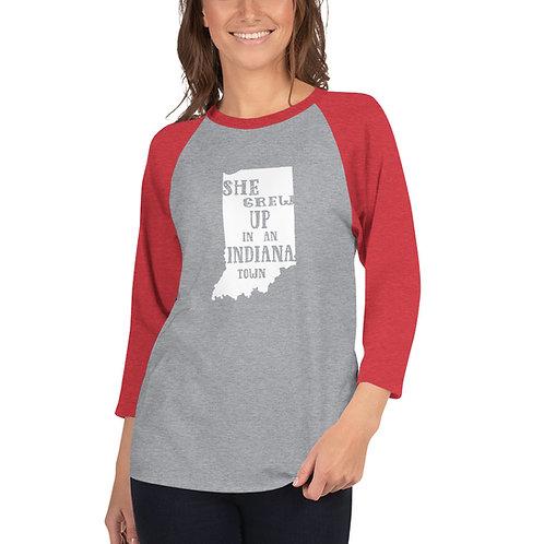 Indiana Girl 3/4 sleeve raglan shirt