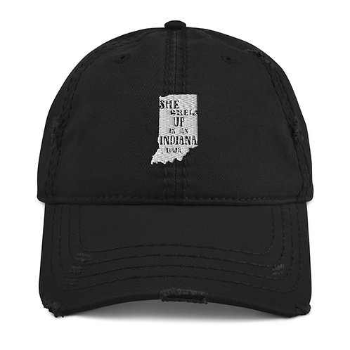 Indiana Girl Distressed Dad Hat