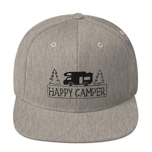 Happy Camper Snapback Hat