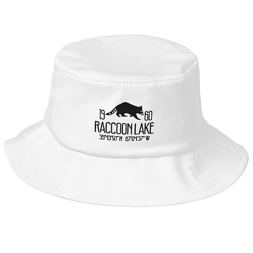 Raccoon Lake Old School Bucket Hat