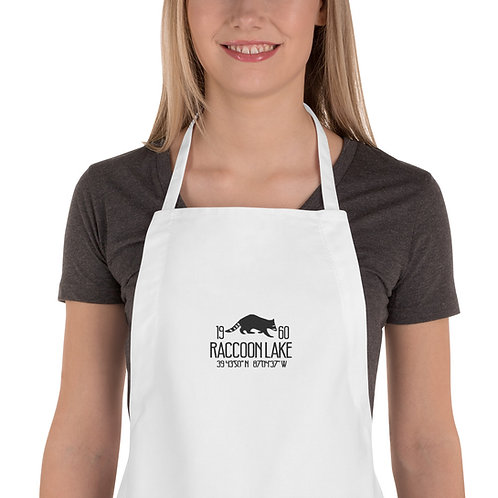 Raccoon Lake Embroidered Apron