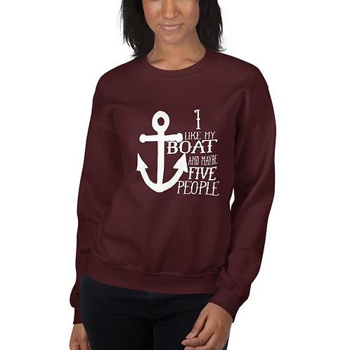 I Like My Boat Gildan Unisex Sweatshirt