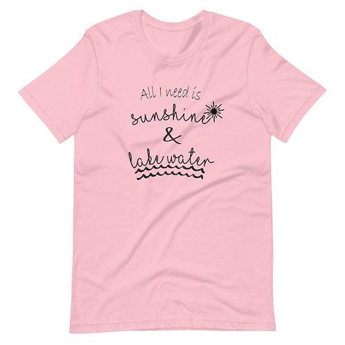 Sunshine and Lake Water Short-Sleeve Unisex T-Shirt
