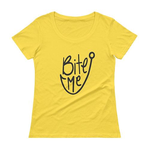 Bite Me Ladies' Scoopneck T-Shirt