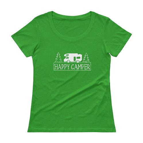 Happy Camper Ladies' Scoopneck T-Shirt