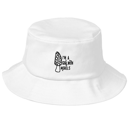 I'm a Girl With Morels Old School Bucket Hat